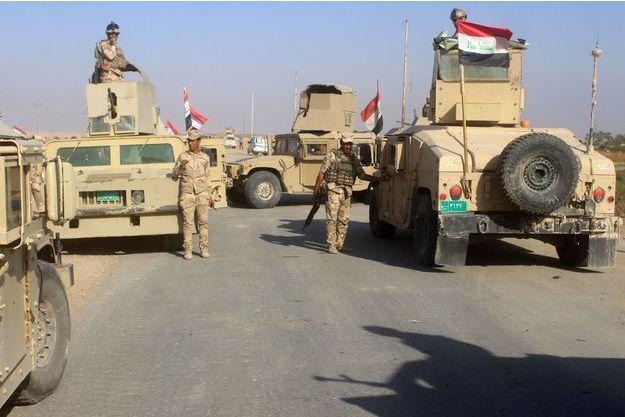 Les forces irakiennes près de Rawa, le 11 novembre 2017.