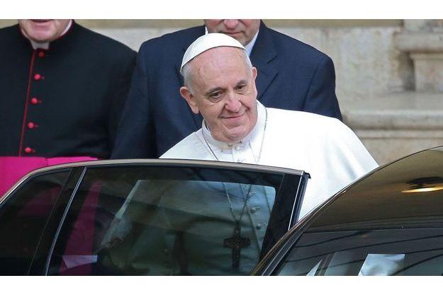 Le pape François, ce jeudi matin, à Rome.