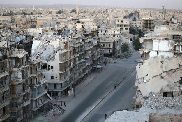 Le quartier de Tariq al-Bab à Alep, le 5 octobre 2016.
