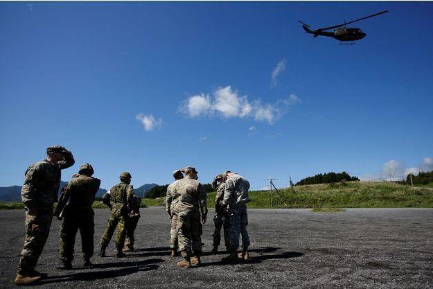 Des soldats américains et japonais durant un exercice, non loin de Tokyo, en septembre dernier (image d'illustration).