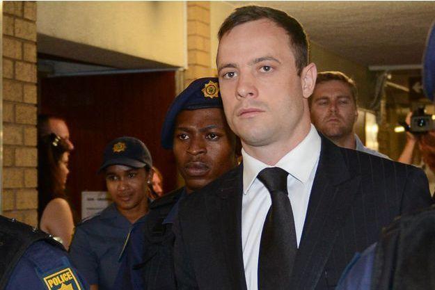 Oscar Pistorius photographié le 21 octobre 2014, le jour de sa condamnation à cinq ans de prison.