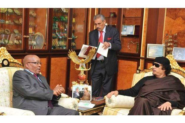 Jacob Zuma et Mouammar Kadhafi