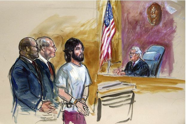 Oscar Ramiro Ortega-Hernandez devant une cour de Washington en novembre 2011.
