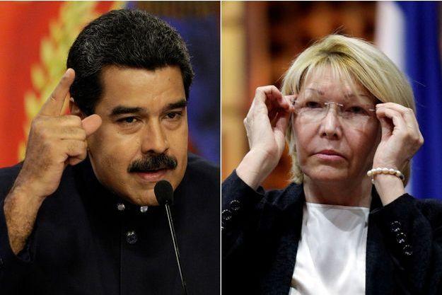 Nicolas Maduro le 22 août 2017, et Luisa Ortega Diaz le 6 août 2017.