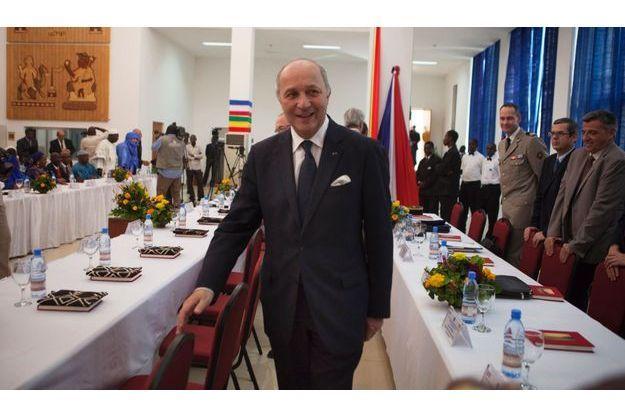 Laurent Fabius, samedi à Bamako.