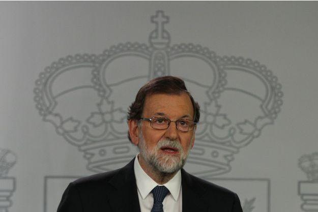 Le Premier ministre Mariano Rajoy à Madrid, le 1er octobre 2017.