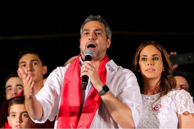 Le nouveau président paraguayen Mario Abdo Benitez à Asuncion, le 22 avril 2018.