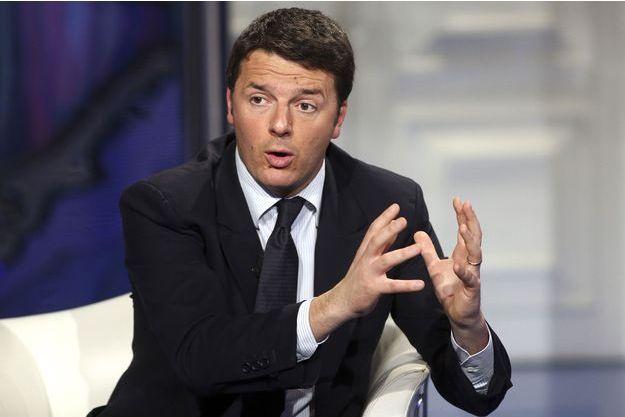 Matteo Renzi sur le plateau de la RAI, fin janvier.