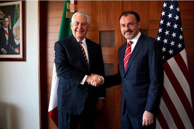 Luis Videgaray et Rex Tillerson le 2 février 2018 à Mexico