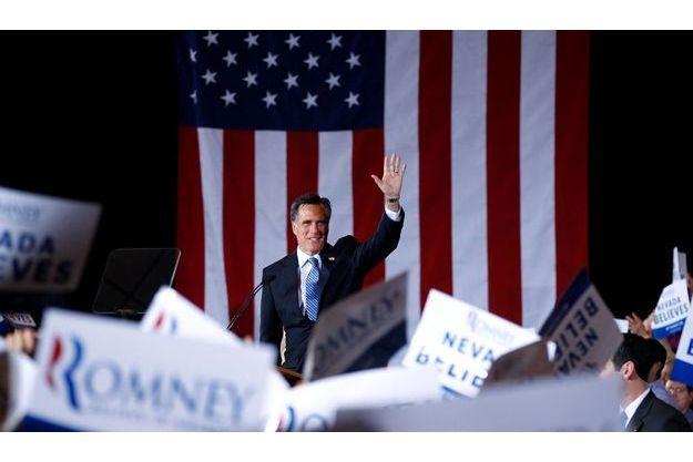 Mitt Romney devant ses partisans, samedi, à Las Vegas (Nevada).