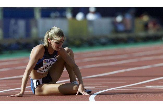 Suzy Favor-Hamilton, en août 2001 à Edmonton, n'a pas fini le 1 500 m.