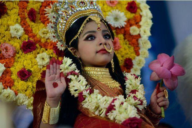 """Une jeune fille """"Kumari"""" (photo d'illustration)"""