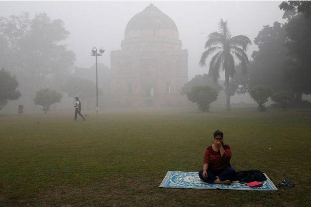 Un parc de New Delhi, le 9 novembre.
