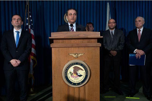 Preet Bharara, procureur de Manhattan, annonçait lundi lors d'une conférence de presse l'implication de la police New Yorkaise dans une affaire de corruption.