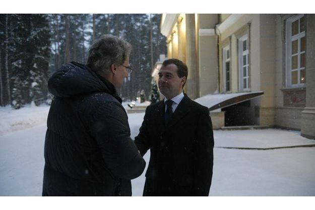 Dmitri Medvedev, Vladimir Poutine, Russie, Paris Match