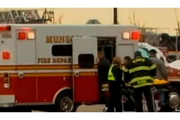 Sur place, les ambulances ont évacué les blessés