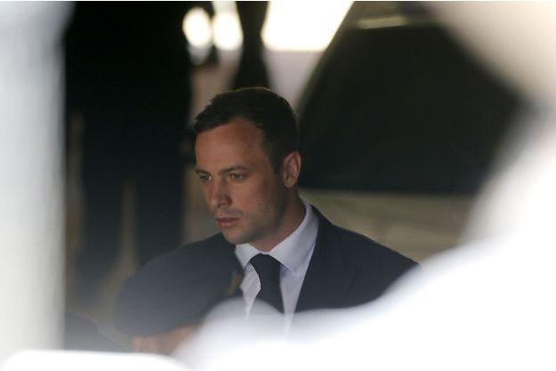 Oscar Pistorius le 21 octobre dernier, jour de sa condamnation.