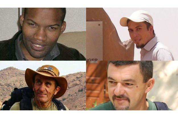 Thierry Dol (en haut, à g.), Pierre Legrand (en haut, à dr.), Daniel Larribe (en bas, à g.), Marc Féret (en bas, à dr.).