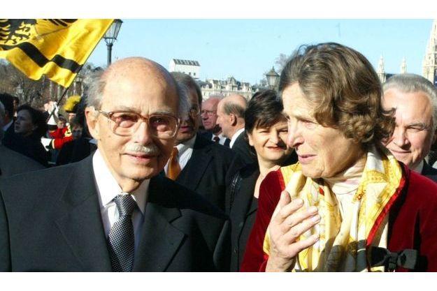 Otto de Habsbourg et son épouse, la princesse Regina de Saxe-Meiningen, en 2002