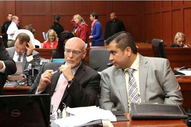 Trayvon Martin et son avocat, Mark O'Mara.