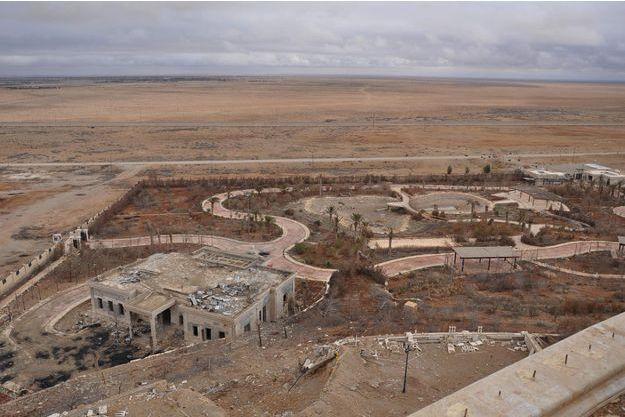 Un ancien palais de Palmyre détruit par la guerre.
