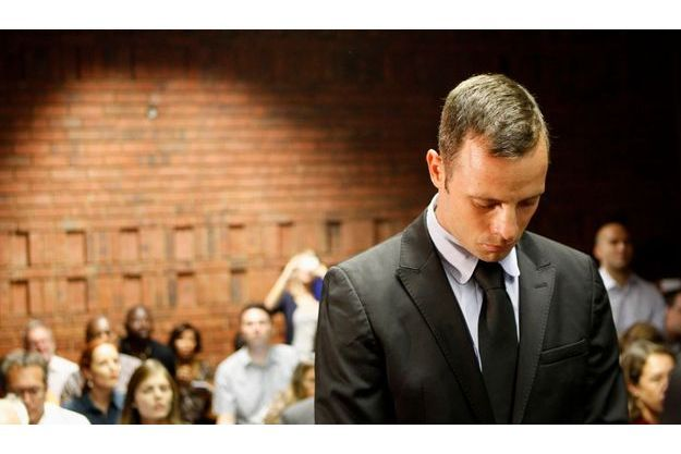 Oscar Pistorius au tribunal ce mercredi.