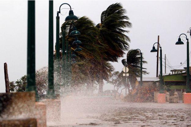 """L'ouragan Maria reste """"extrêmement dangereux"""" et engendre des vents soufflant jusqu'à 240 km/h."""