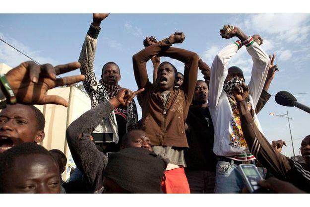 Manifestation contre le gouvernement et le président Wade de jeunes Sénégalais du mouvement Y'en a marre, le 16 février dernier à Dakar.