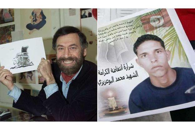 Ali Farzat et Mohamed Bouazizi font partie des cinq personnes récompensées.