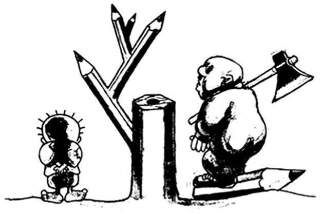 Un dessin de Naji al-Ali.