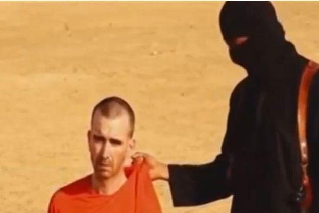 David Haines sur la vidéo publiée mardi par l'Etat islamique.