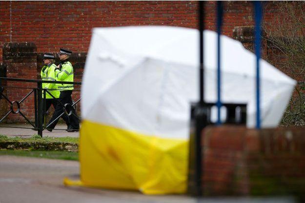A Salisbury, en mars dernier, après l'attaque à l'agent neurotoxique Novitchok.