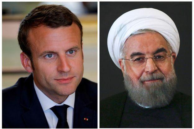 """Rohani demande à Macron d'agir contre """"les terroristes"""" iraniens basés en France."""