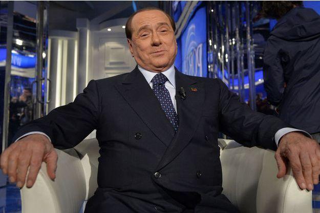 Silvio Berlusconi, en avril dernier lors de l'enregistrement d'une émission de télévision à Rome.