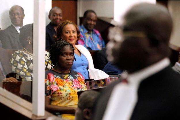 Simone Gbagbo, lors du premier jour de son procès.