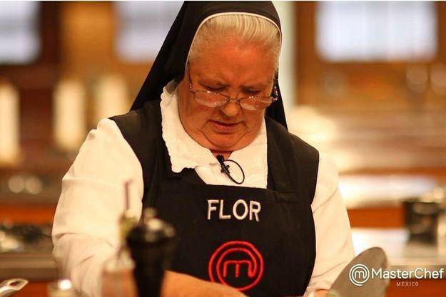 "Hermana Flor, Soeur Flor, durant l'émission ""Masterchef""."