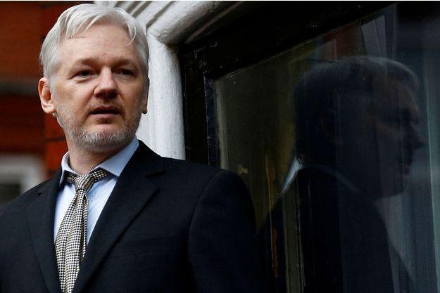 Julian Assange à l'ambassade d'Equateur à Londres, en février 2016.