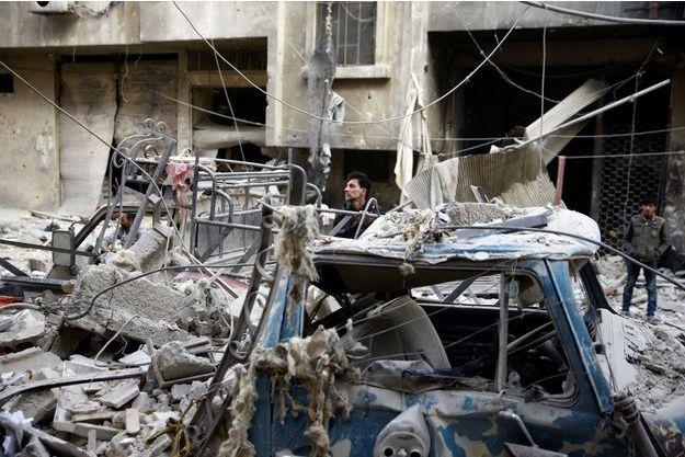 Dix-neuf civils ont été tués à la Ghouta, dimanche (image du 17 novembre 2017).