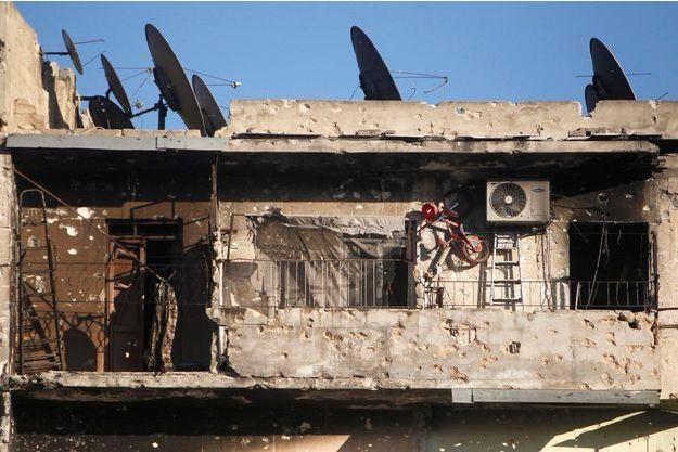 Une maison endommagée par les combats à Alep, en Syrie. (photo d'illustration)