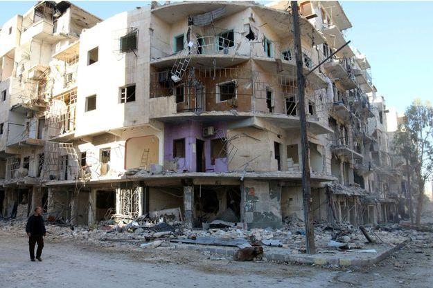 Le quartier al-Sukkari à Alep, le 19 octobre