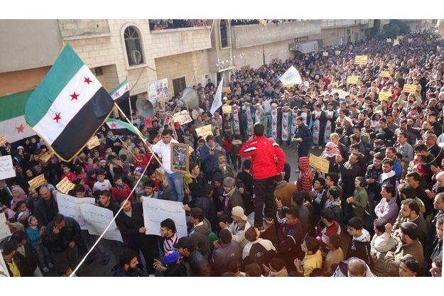 Manifestations à Homs, le 17 décembre.