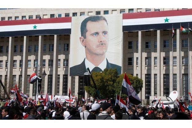 Un portrait de Bachar al-Assad.