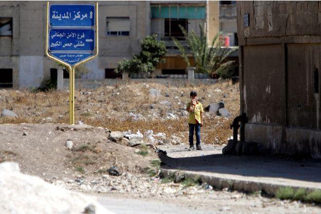 La ville de Homs, en ruines.