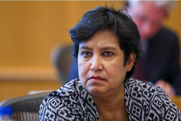 Taslima Nasreen au Parlement européen à Bruxelles, le 5 juin 2018.