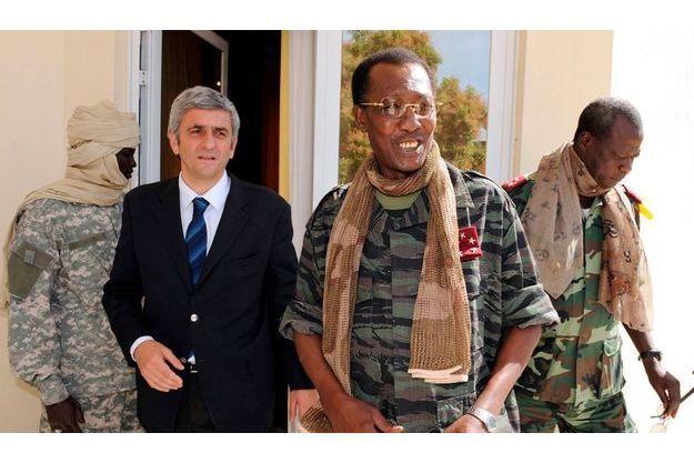 Hervé Morin, ministre de la Défense, et Idriss Déby.