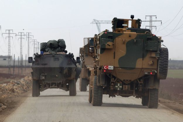 C'est lors de l'opération « Bouclier de l'Euphrate », ici le 4 janvier 2017 à Al Raï en Syrie, que l'armée turque a recueilli ces informations