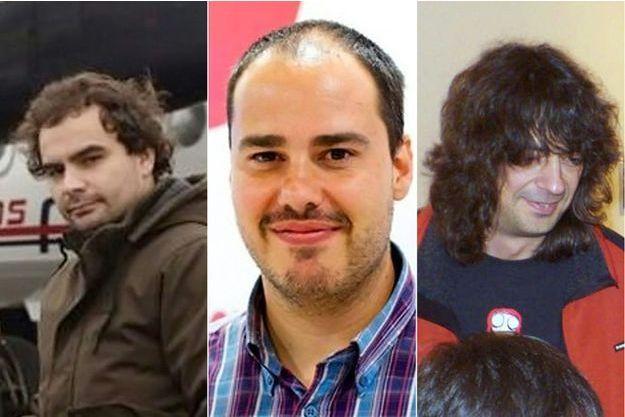 Angel Sastre, Antonio Pampliega et Jose Manuel Lopez.