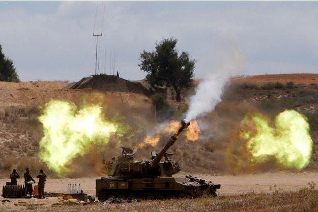 Le 18 juillet, une unité mobile d'artillerie de l'armée israélienne pilonne Gaza?