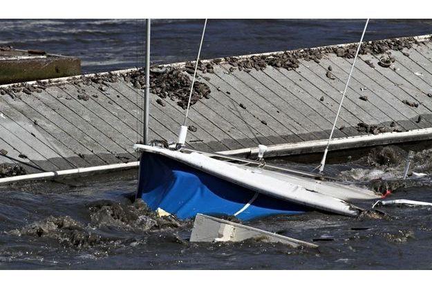 La ville de Santa Cruz, en Californie, a été la plus touchée par le tsunami.