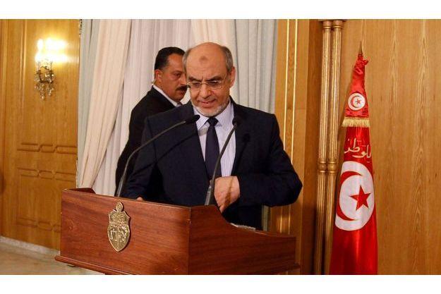 Hamadi Jebali, lundi, lors d'une conférence de presse.